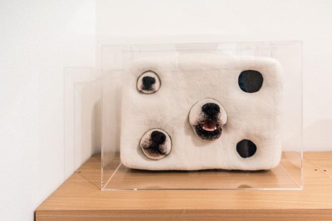 あとぼくが「おお!」って思ったのは本棚の上にあったこれ。アーティスト・かわさきみなみさんの作品だ!「よく行く根津のギャラリーで見て気に入って購入しました」とのこと。