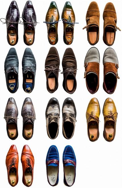 恒例の「持っているものを並べてもらって撮る」。今回並べてもらったのは靴。すげーかっこいい靴ばかりでびっくりした。