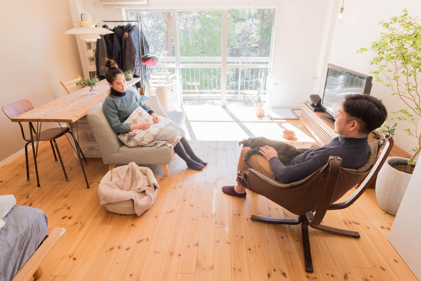 スペースに余裕を持ったお部屋を選ぶのも大切かも(このインテリア実例はこちら)