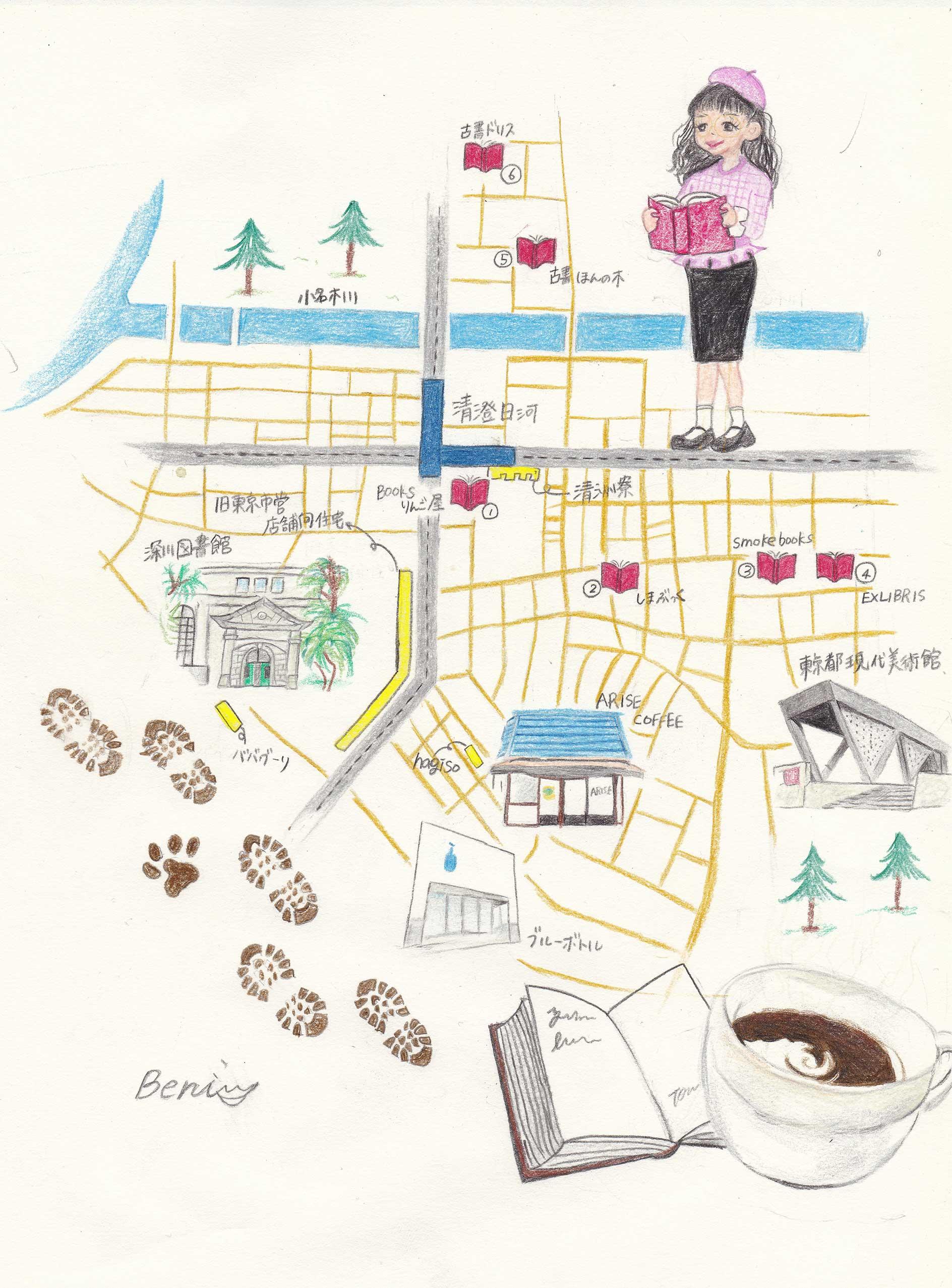 清澄白河 本屋と建築をめぐるマップ