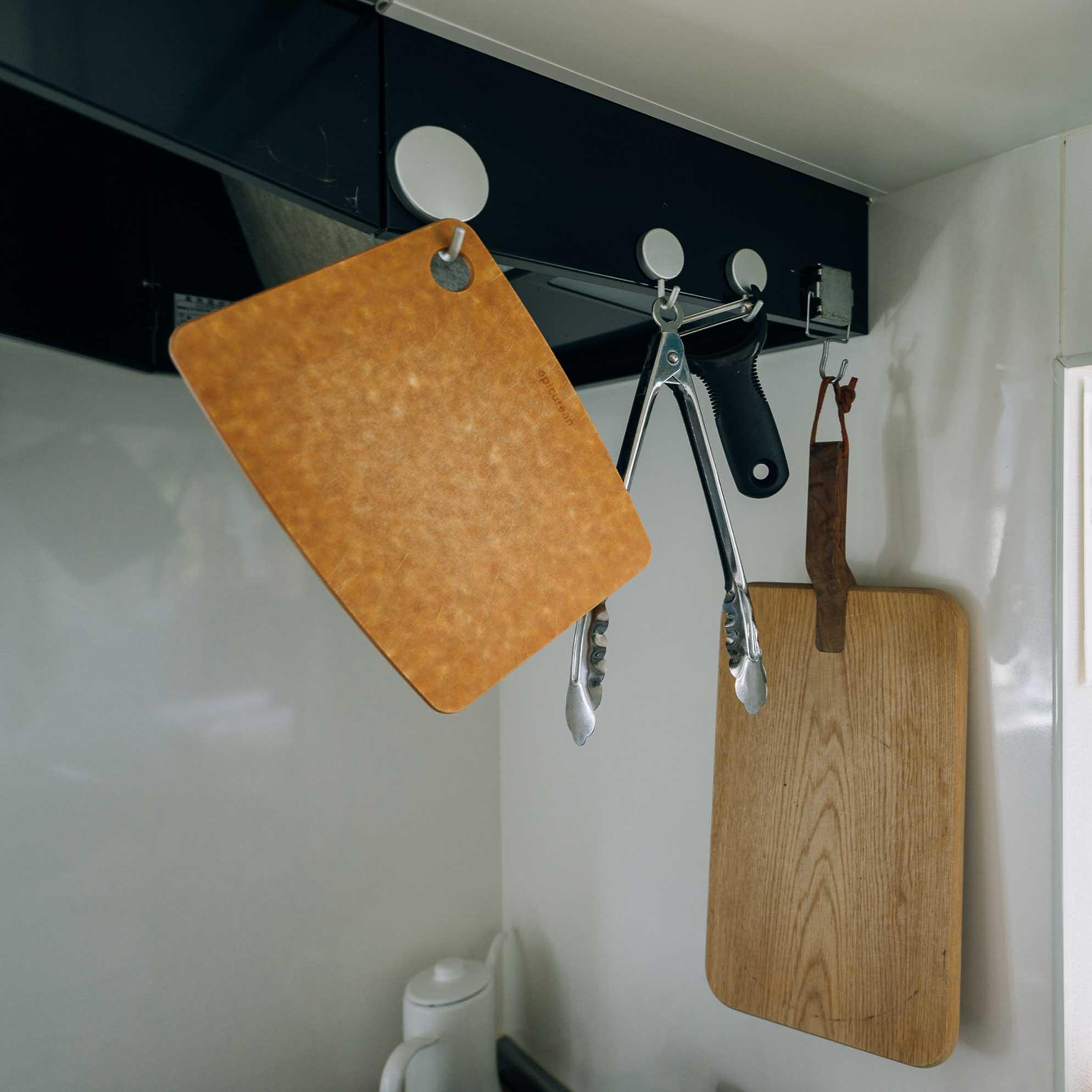 本当に必要なモノだけが、すぐ手に取れる場所にある。自然と理想的なキッチンができあがっていた。