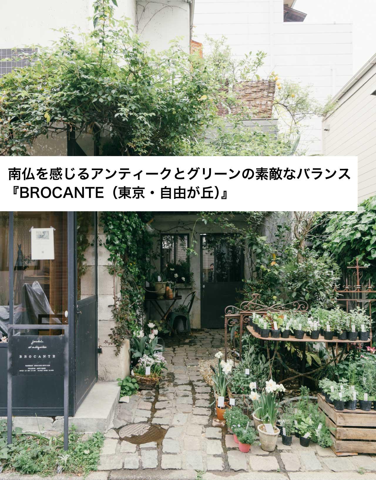 南仏を感じるアンティークとグリーンの素敵なバランス 『BROCANTE(東京・自由が丘)』