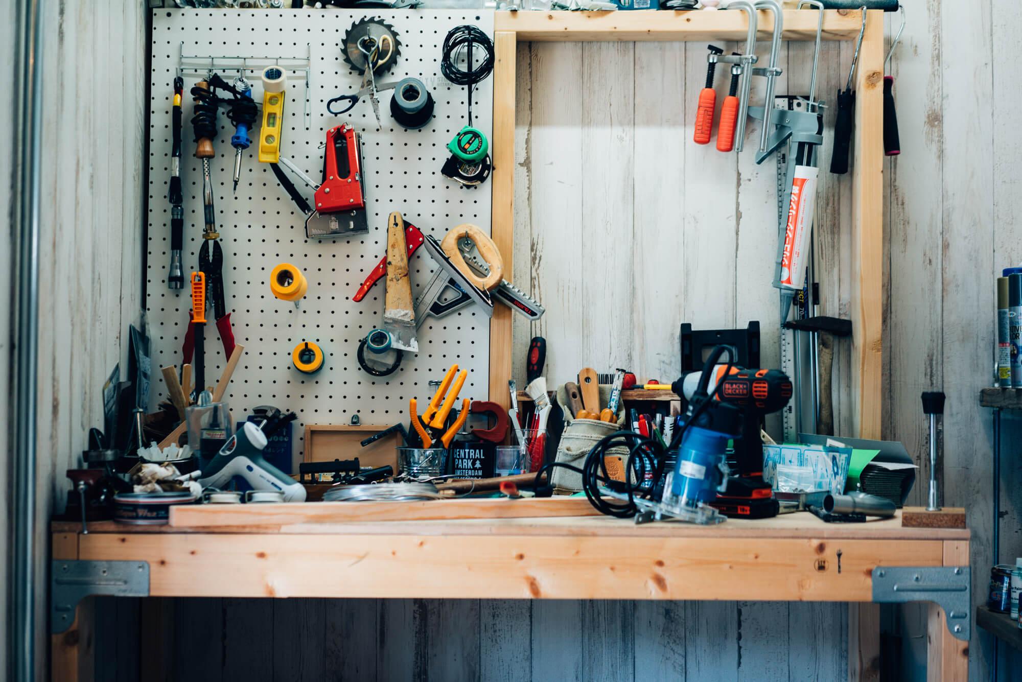 すぐに使える工具も貸し出してもらえます。