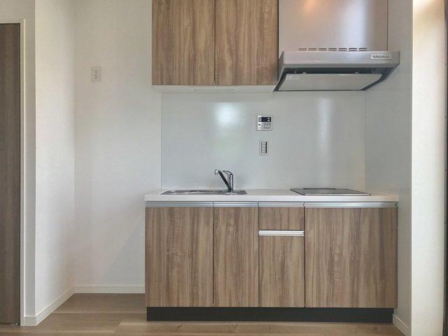 キッチンなどの設備も、まっさら新品なのです。新築だから当たり前だけど。