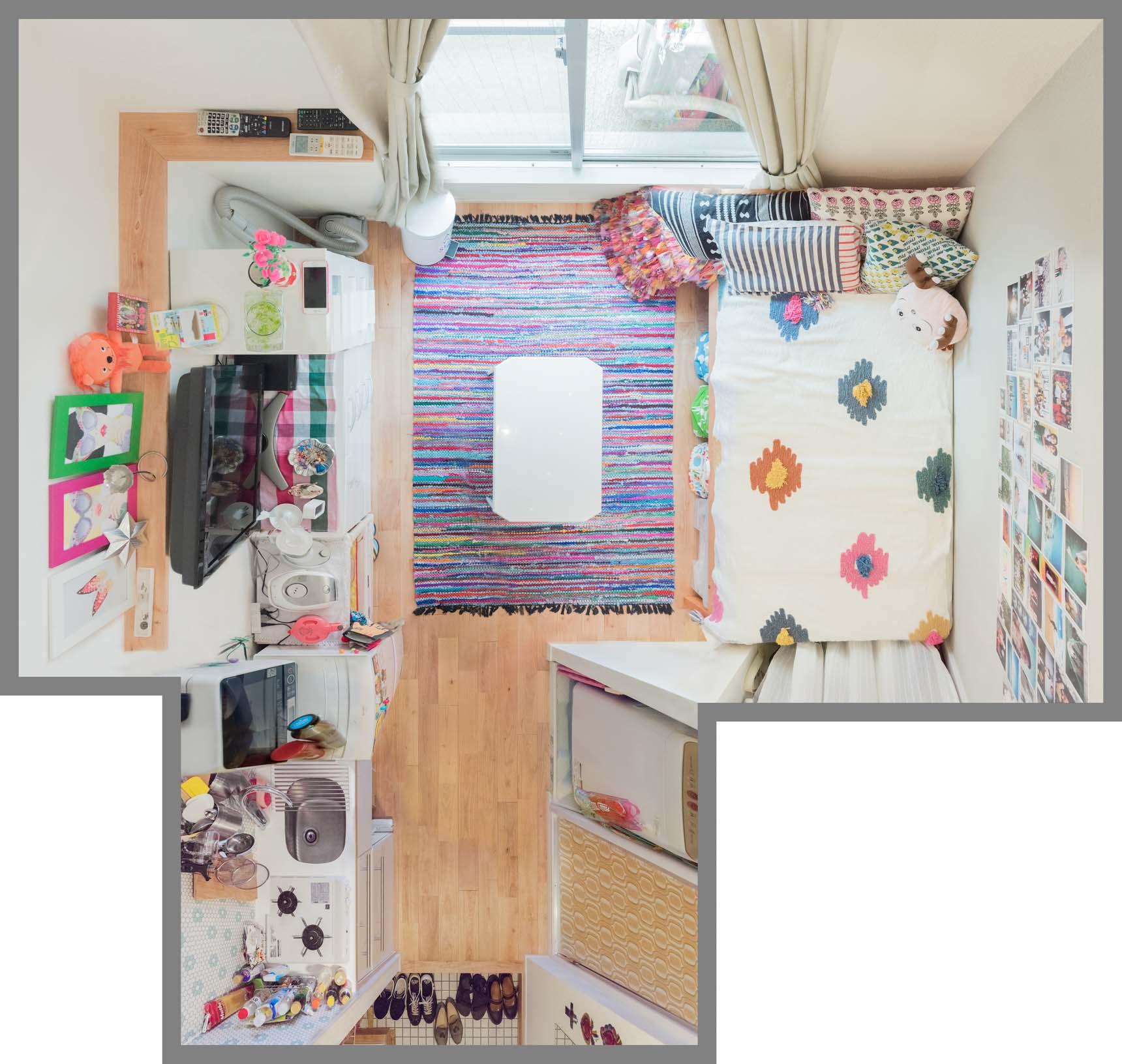 色とりどりの「思い出」と暮らす。カラフル&キュートなひとり暮らしの部屋