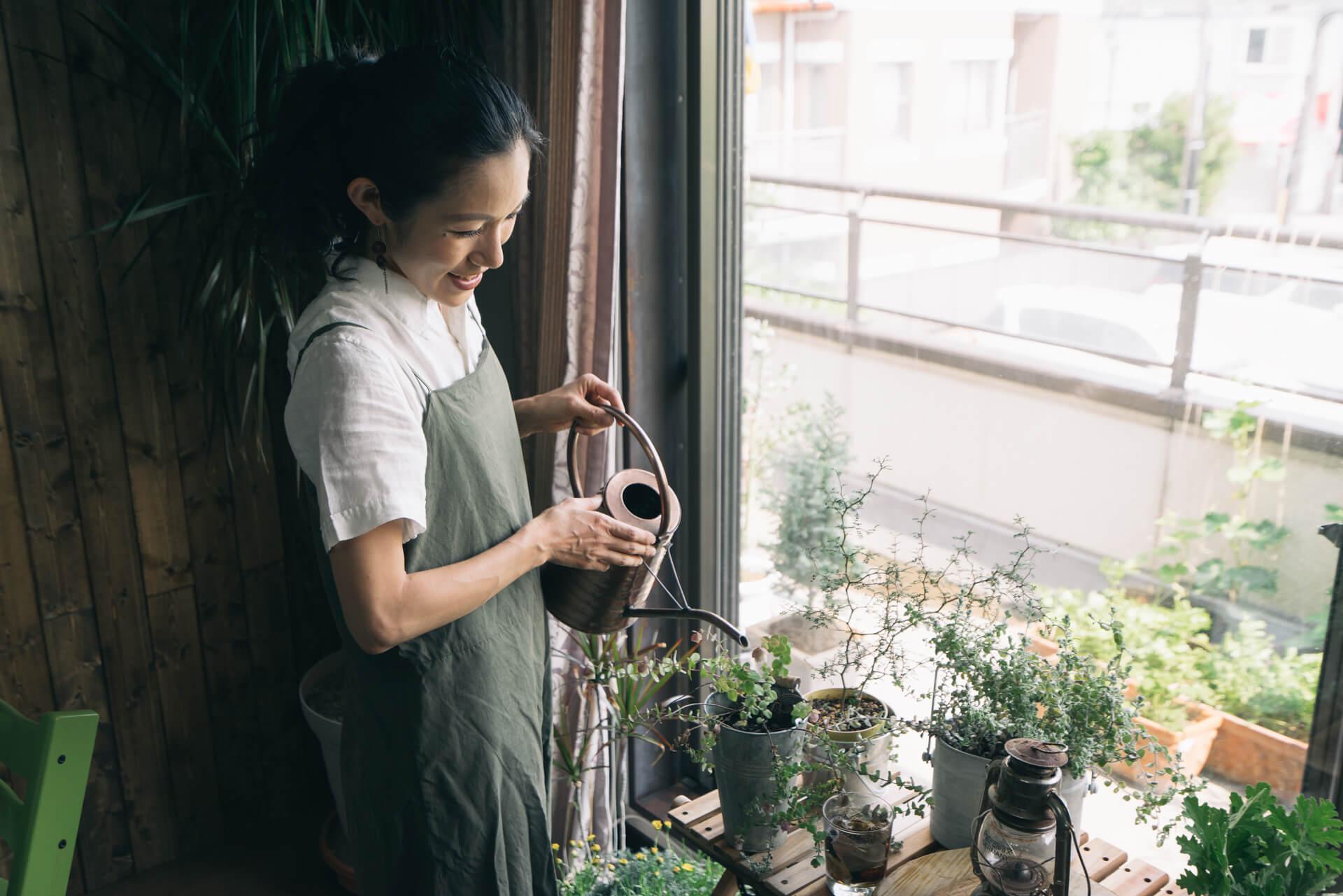 「植物は仕事仲間です」とmamiさん。