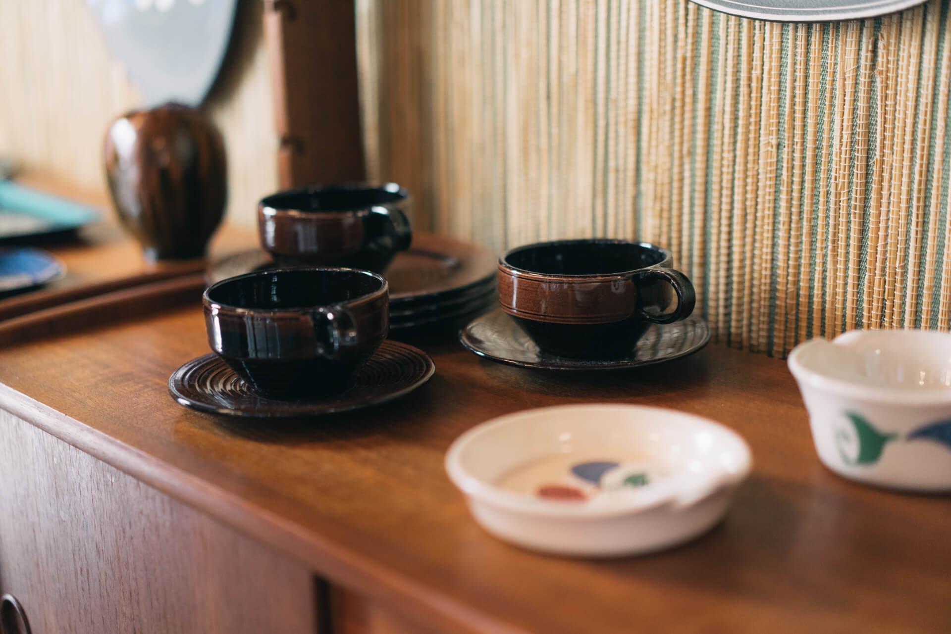 店内の食器や家具など、ノルウェーデザインのインテリアは販売もしています。