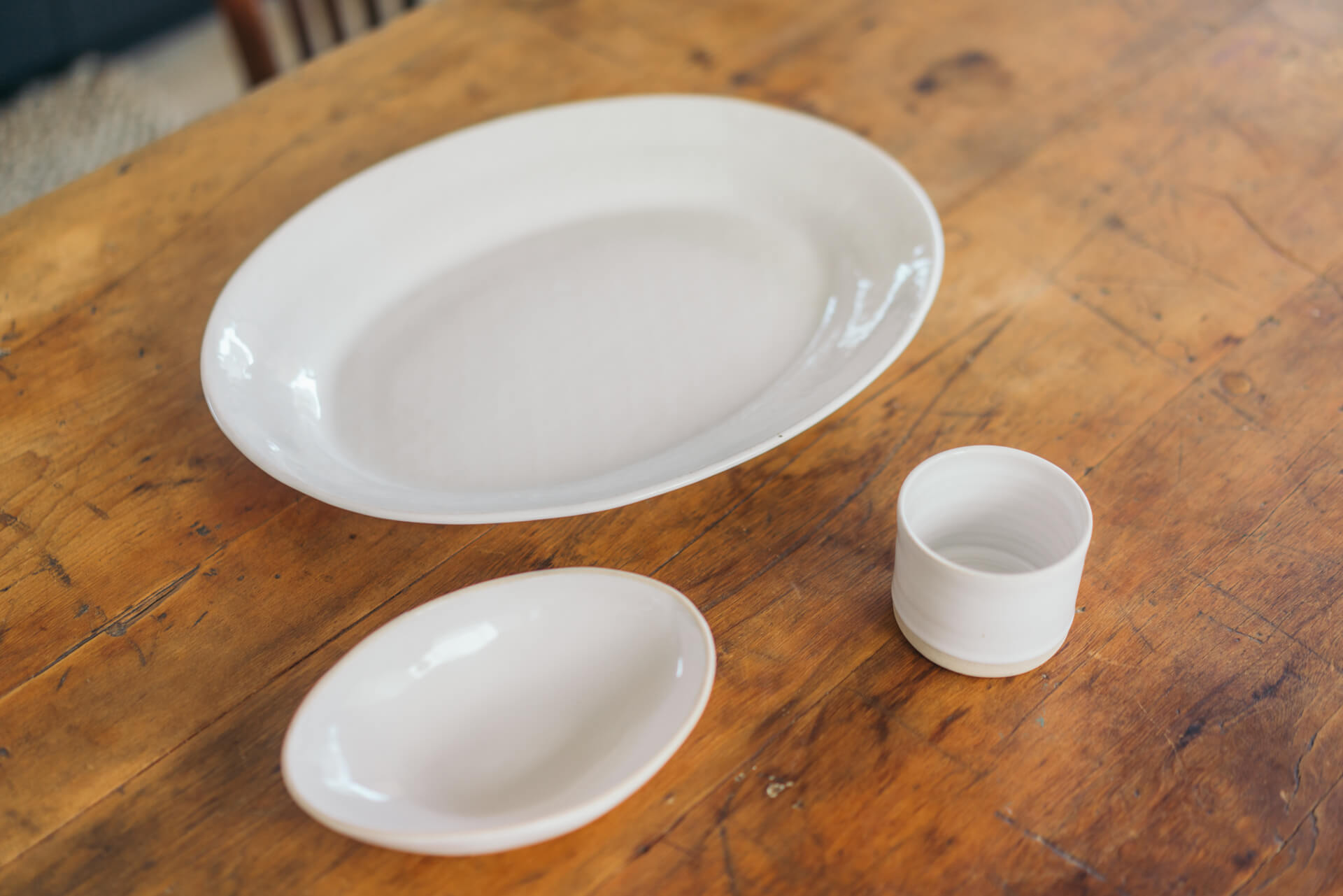 南アフリカにある陶窯、wonki ware の食器は、和でも洋でも使える雰囲気が好き。