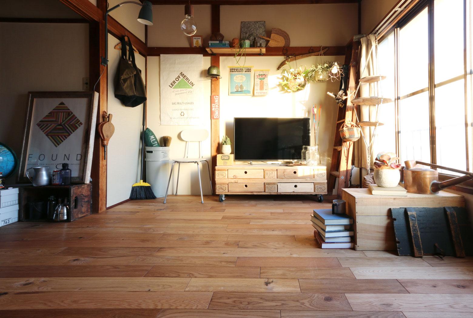 もともと畳のお部屋に施工した例がこちら。見るからに気持ちよさそうな床が完成していました。(写真提供:toolbox)