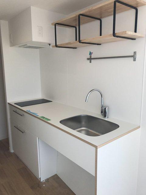 専有の居室内キッチンだって、190cmとかなり広めです。