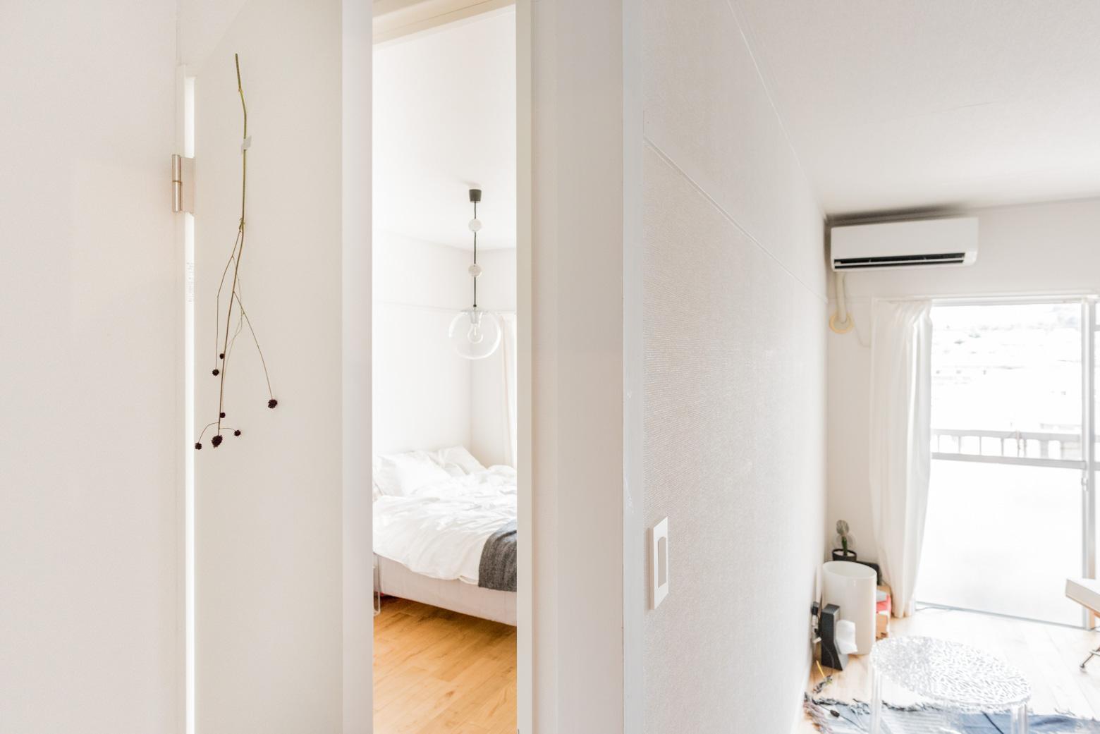 寝室や浴室などはこの並びと平行する形で区分けされている。すごくいい間取り。