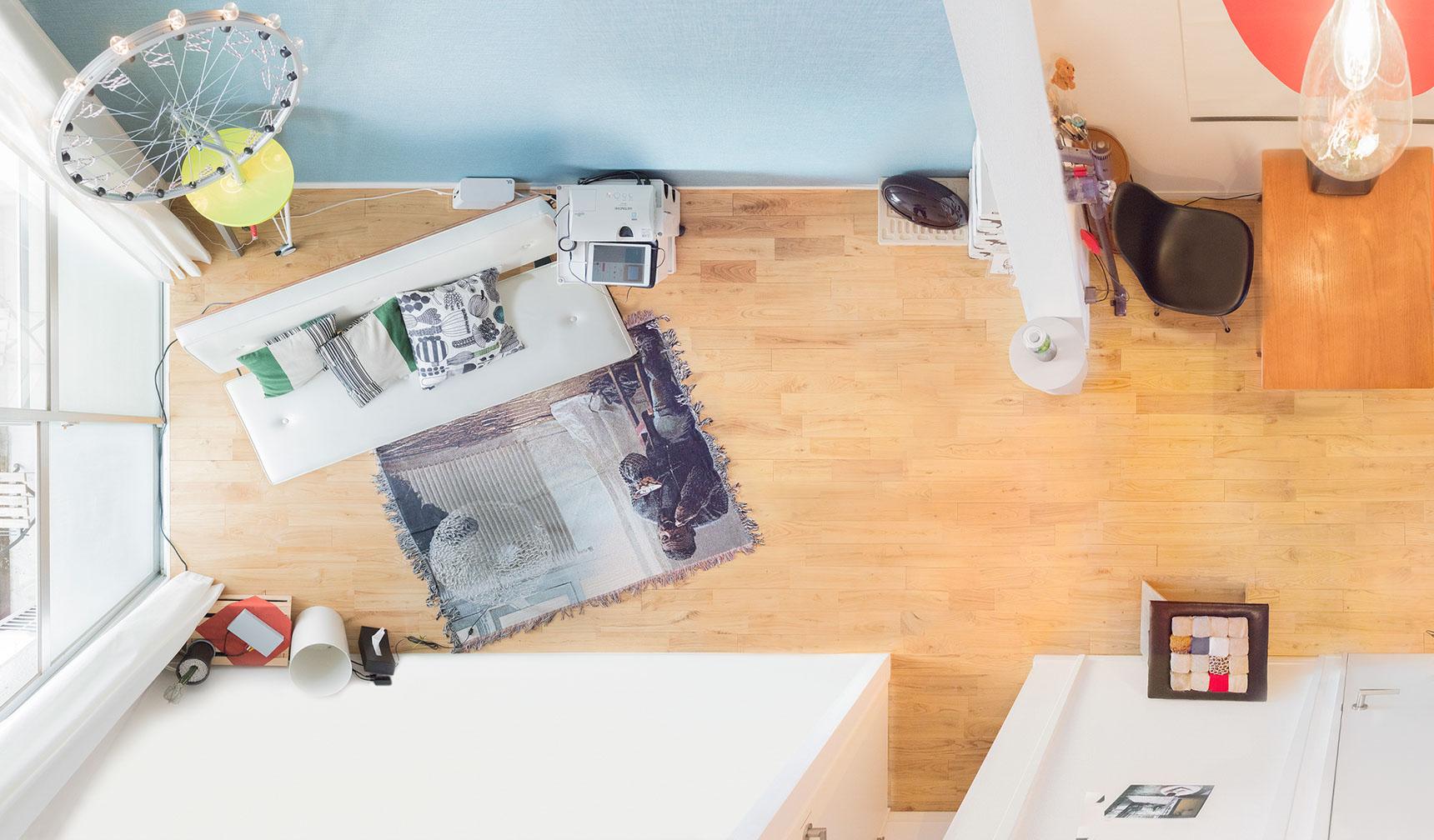 「お揃い」が似合うカップルの、こだわりインテリアの部屋