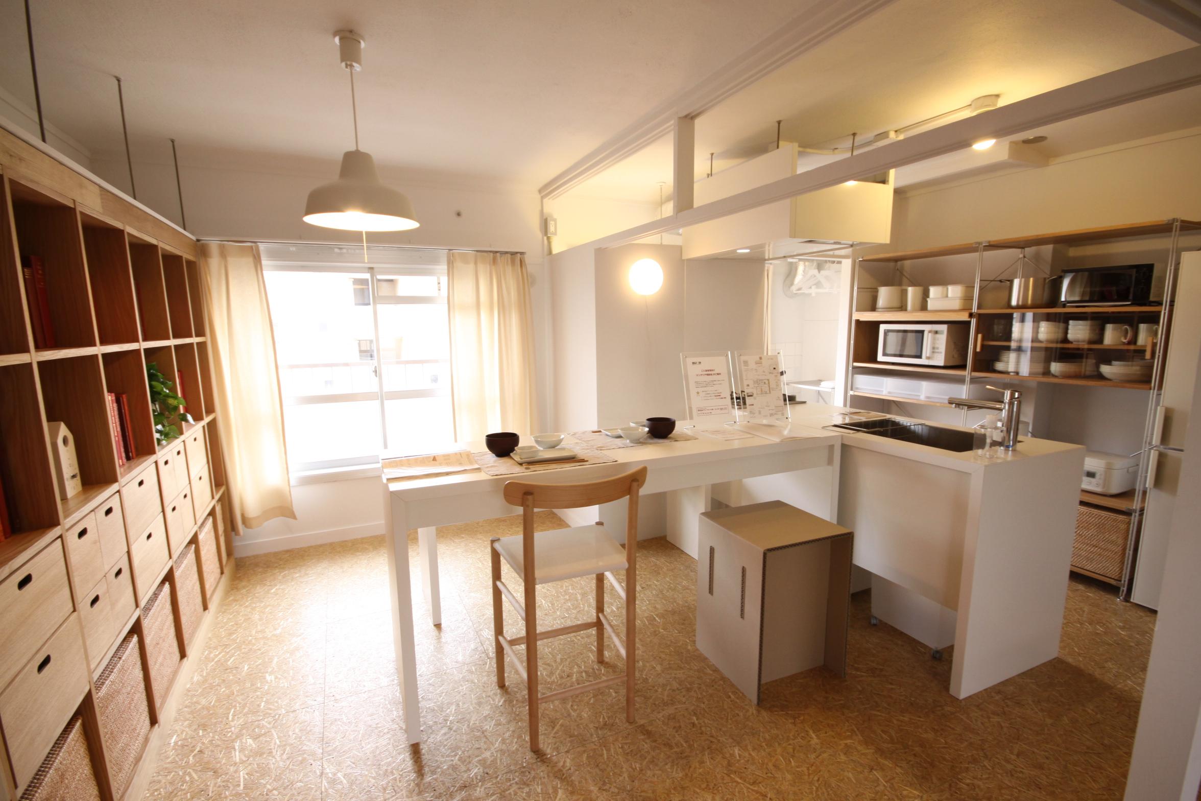 千里青山台団地MUJI×UR住戸:インテリアを無印良品とURがコラボレーションして改装した住戸。