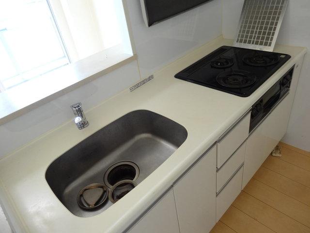 真っ白なキッチン。うん、こういうのがいいんです。