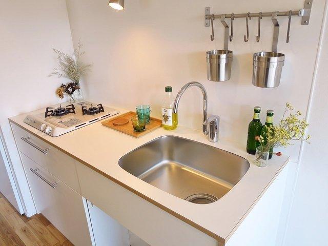 キッチンもインテリア性を重視。