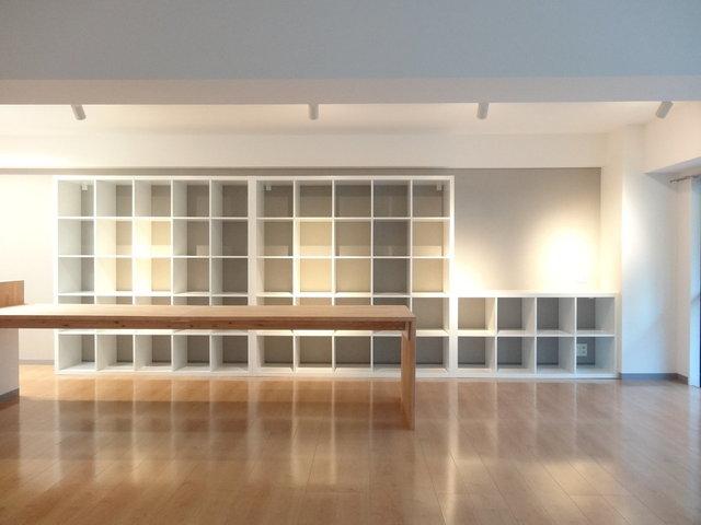 本棚と暮らす部屋
