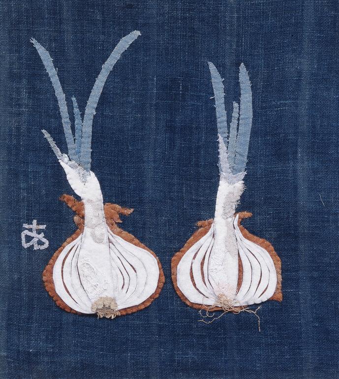 魚や野菜が生き生きと輝く「宮脇綾子 美しいアプリケ 布がつむぐ暮らしの装い」(神戸)