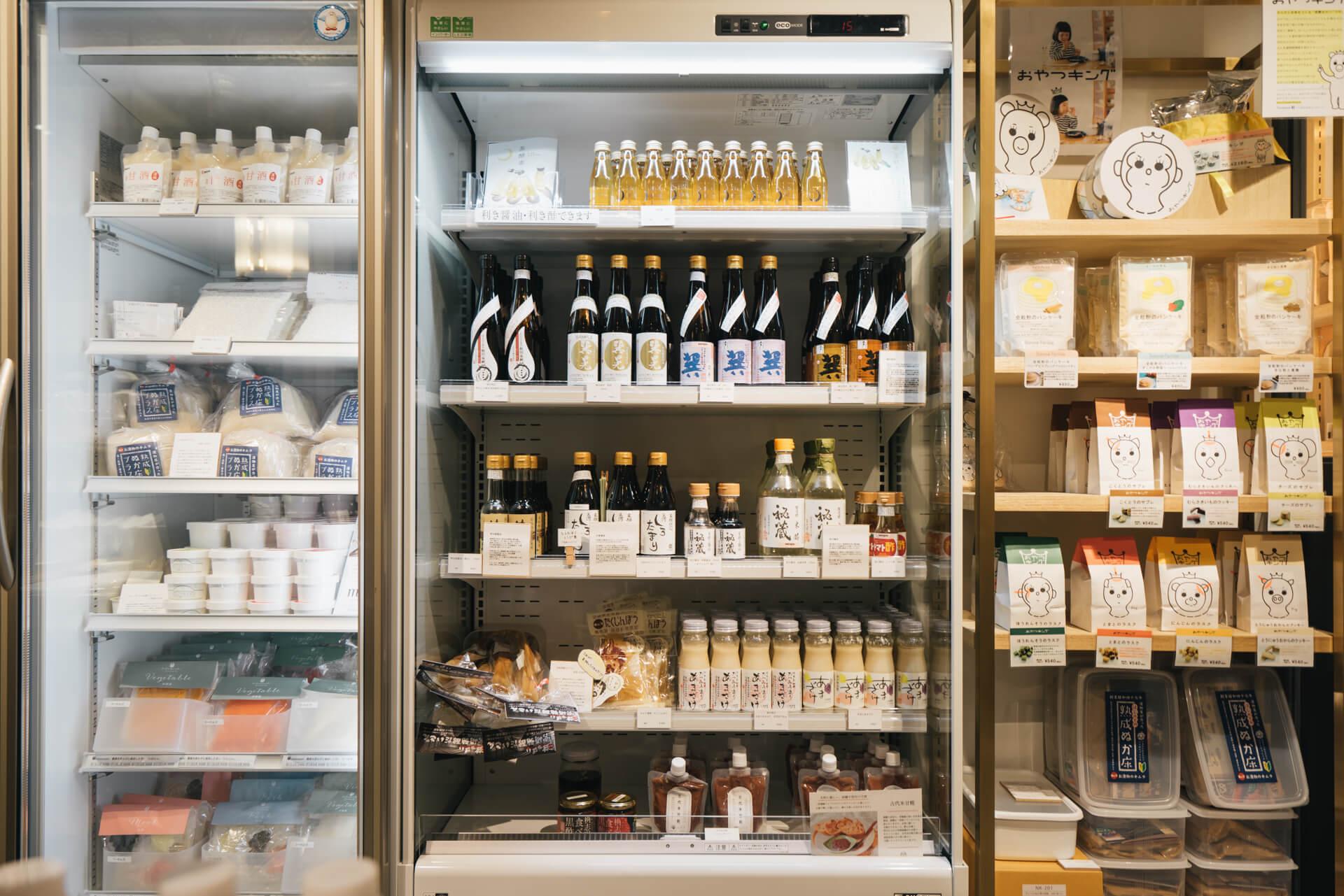 「Hakkou Room」には、ほかにも、数が少なく他ではなかなか手に入らないものなど、発酵食品を中心にいろんな食材がずらり。