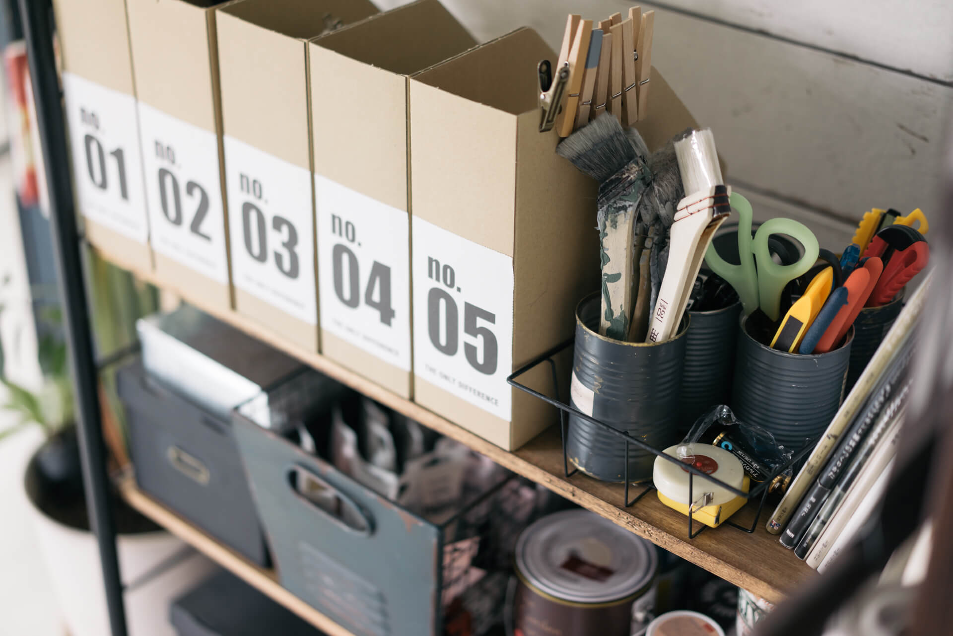あ、DIYの道具もおしゃれに収納されていました!