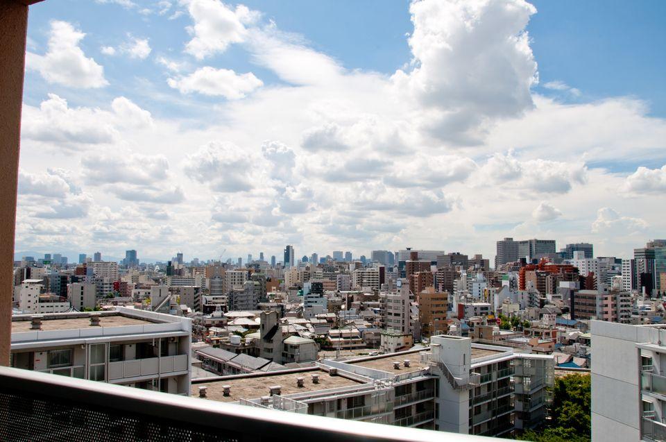 アーベイン東三国:大阪市内方面が一望できる