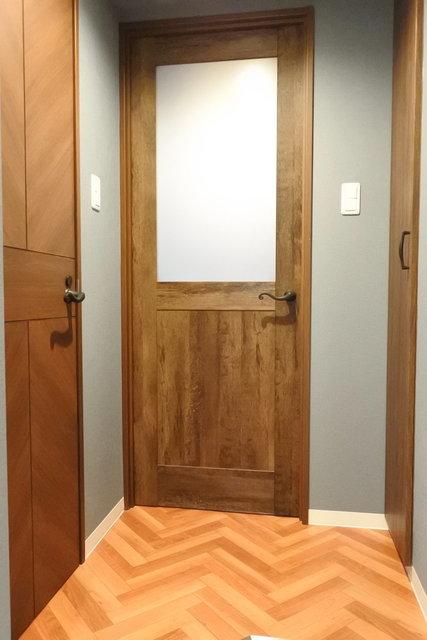 気に入ったのは、このドア!毎日帰ってくるたびにんまりしてしまいそう。
