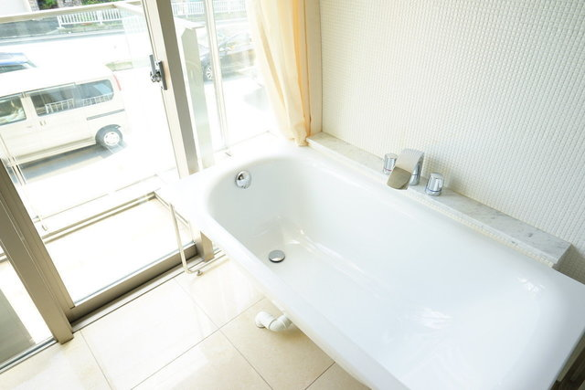この開放的なお風呂!
