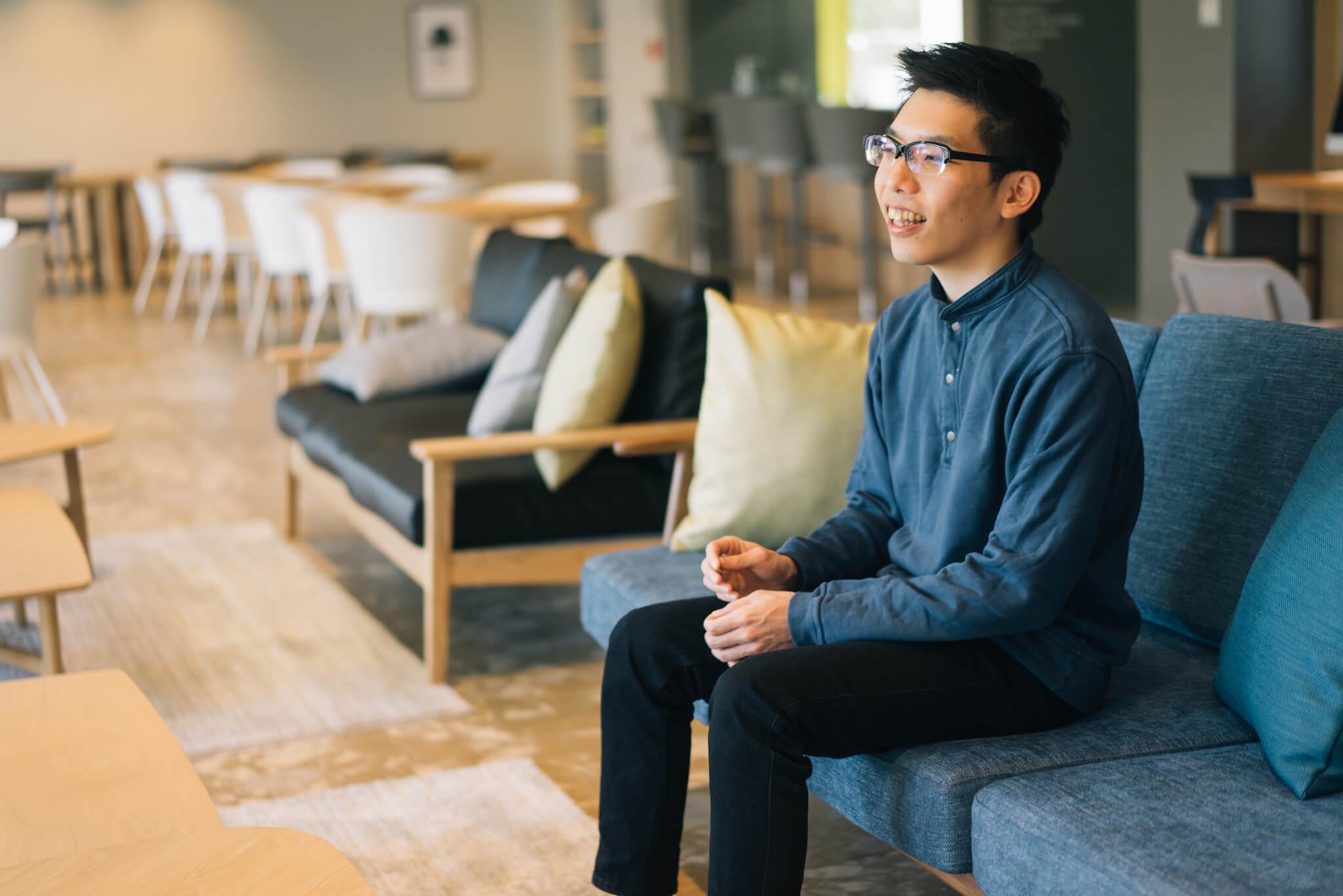 お話を聞かせてくださったのは、11月からここでの生活をスタートした、中田一成さん。