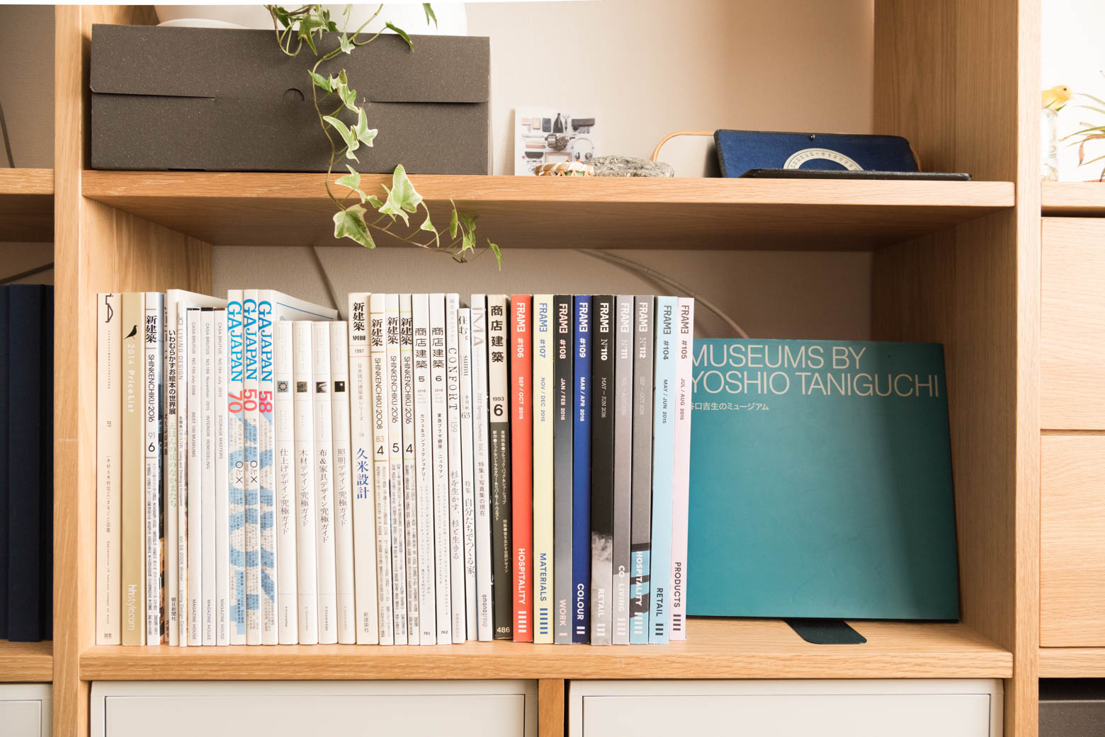 ごちゃごちゃになりがちな(少なくともぼくの場合はそう)本・雑誌類もすっきり。
