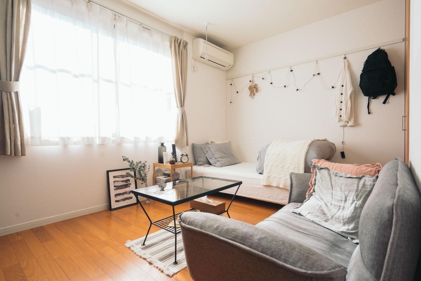 とても陽当たりのよい、横長間取りのお部屋