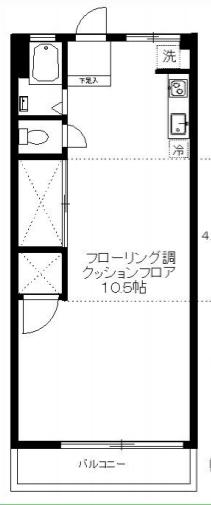 一人暮らしにはなかなか広めの28平米あります。