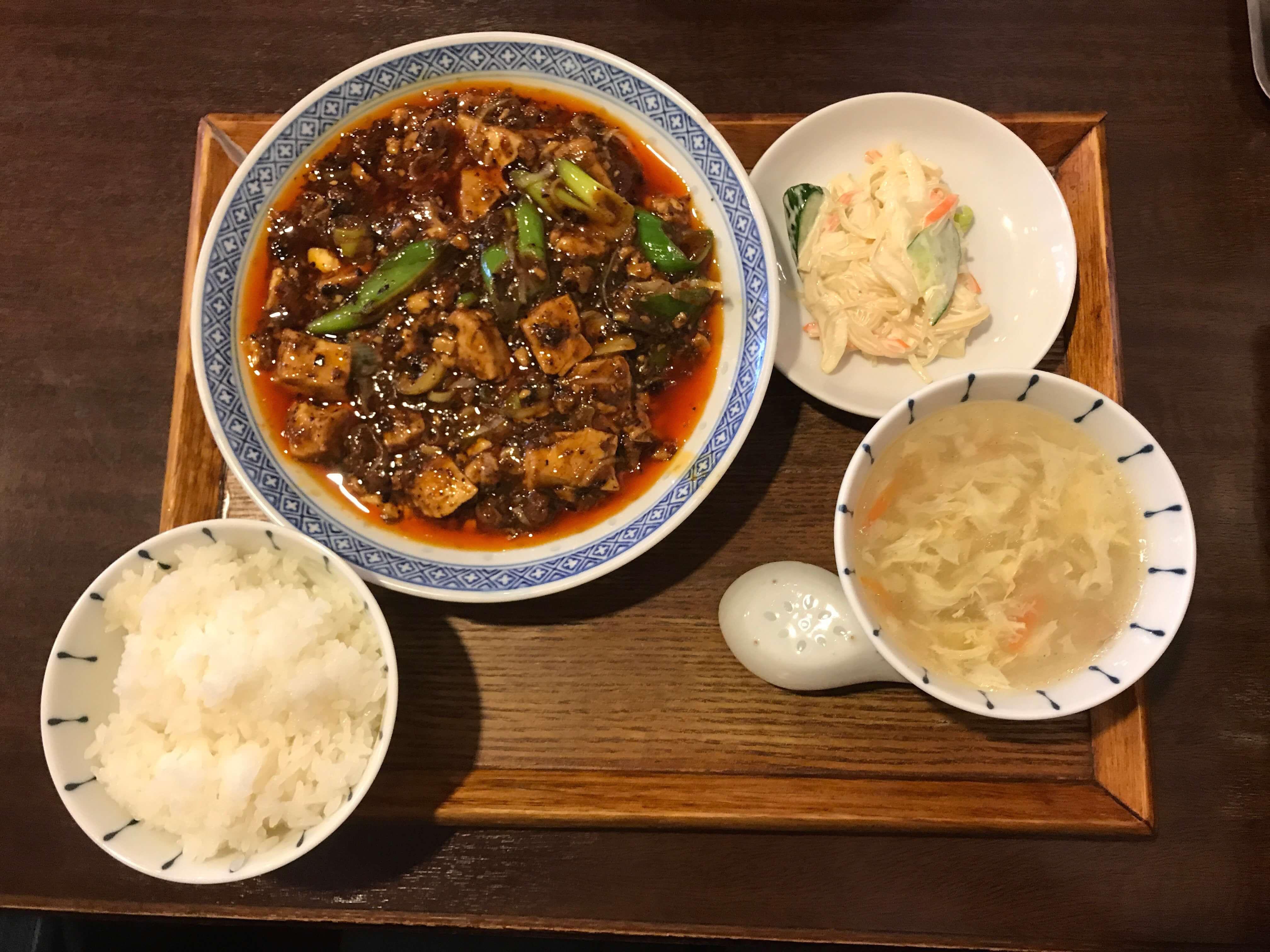 ここに来た人のほとんどが頼む、麻婆豆腐定食(980円)です。
