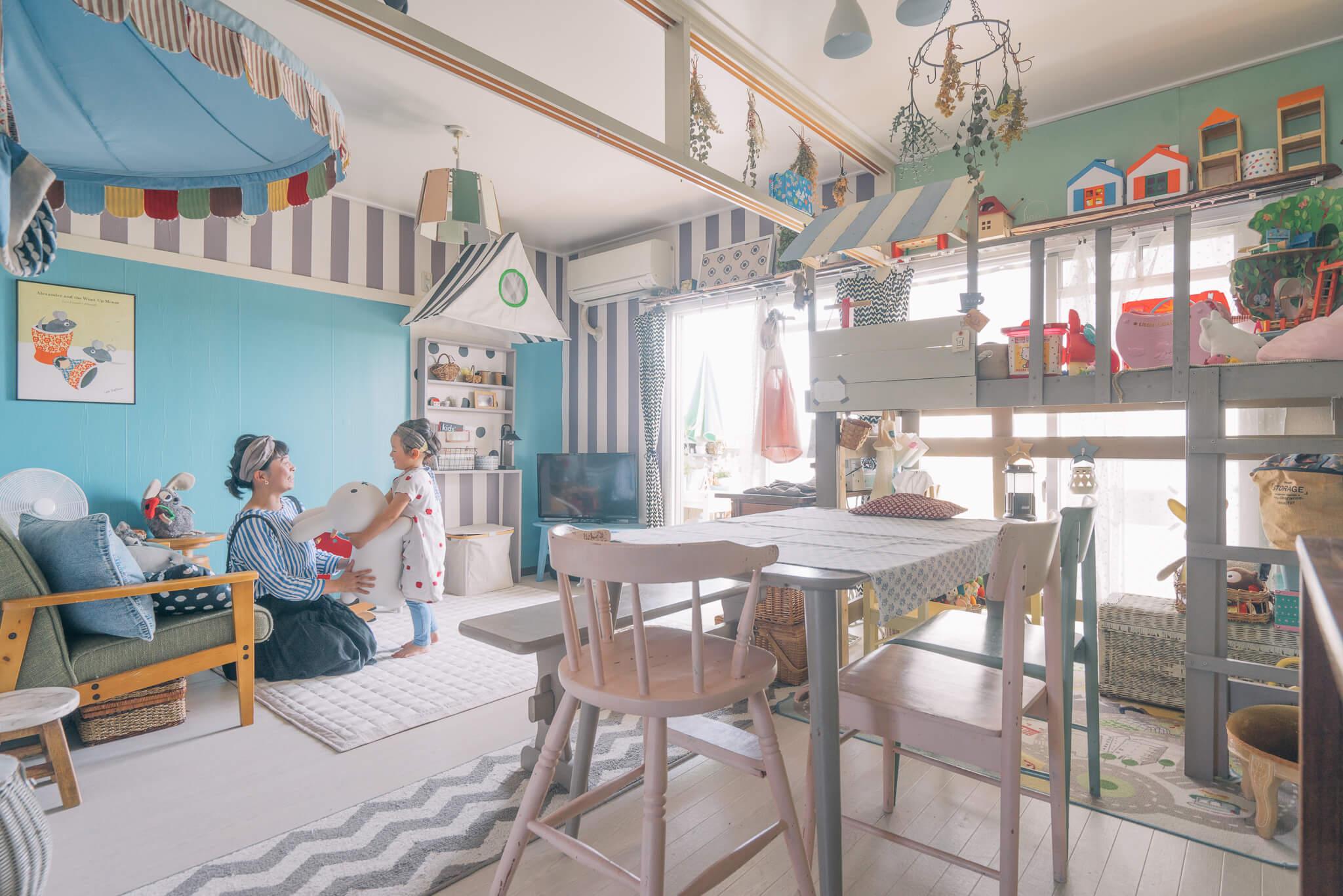 海外の子ども部屋に憧れて。団地をかわいく、カスタマイズ!