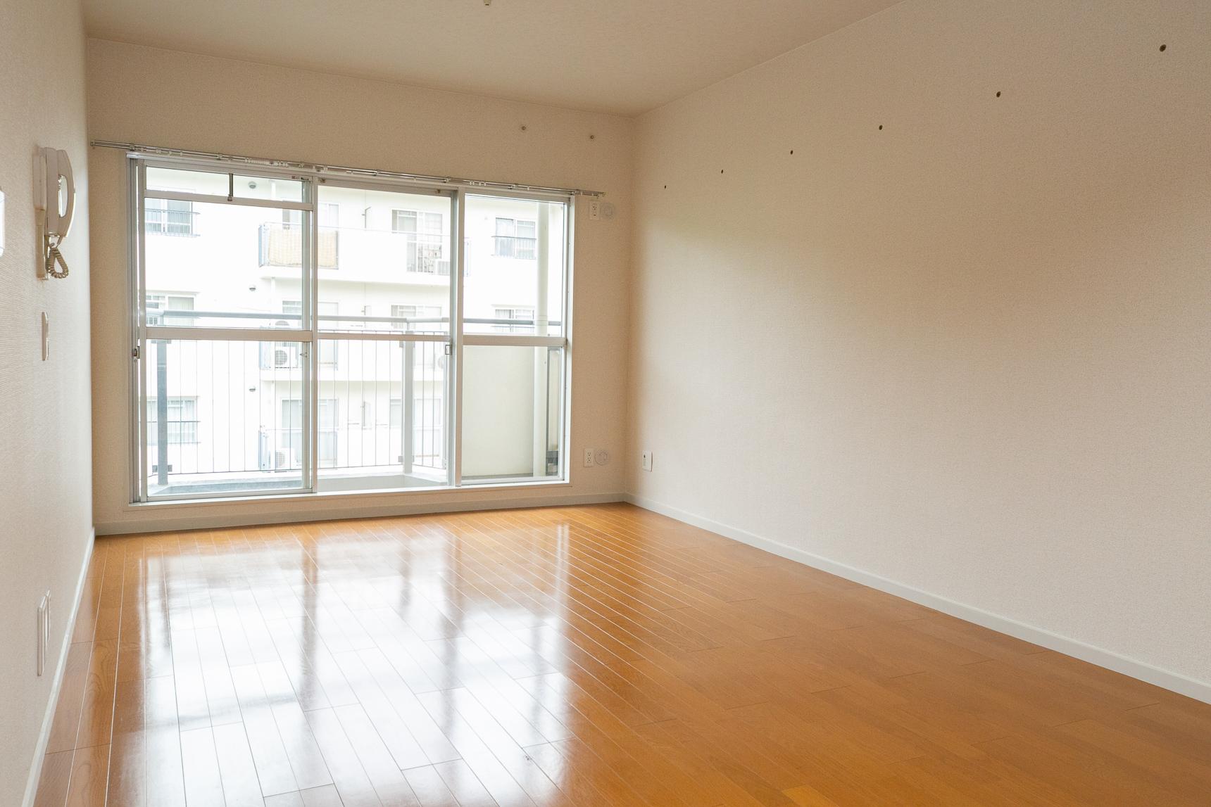 この洋室の隣に、現在閉鎖中のもうひとつの部屋があるということなんですが……言われないと全然気づかないですね。