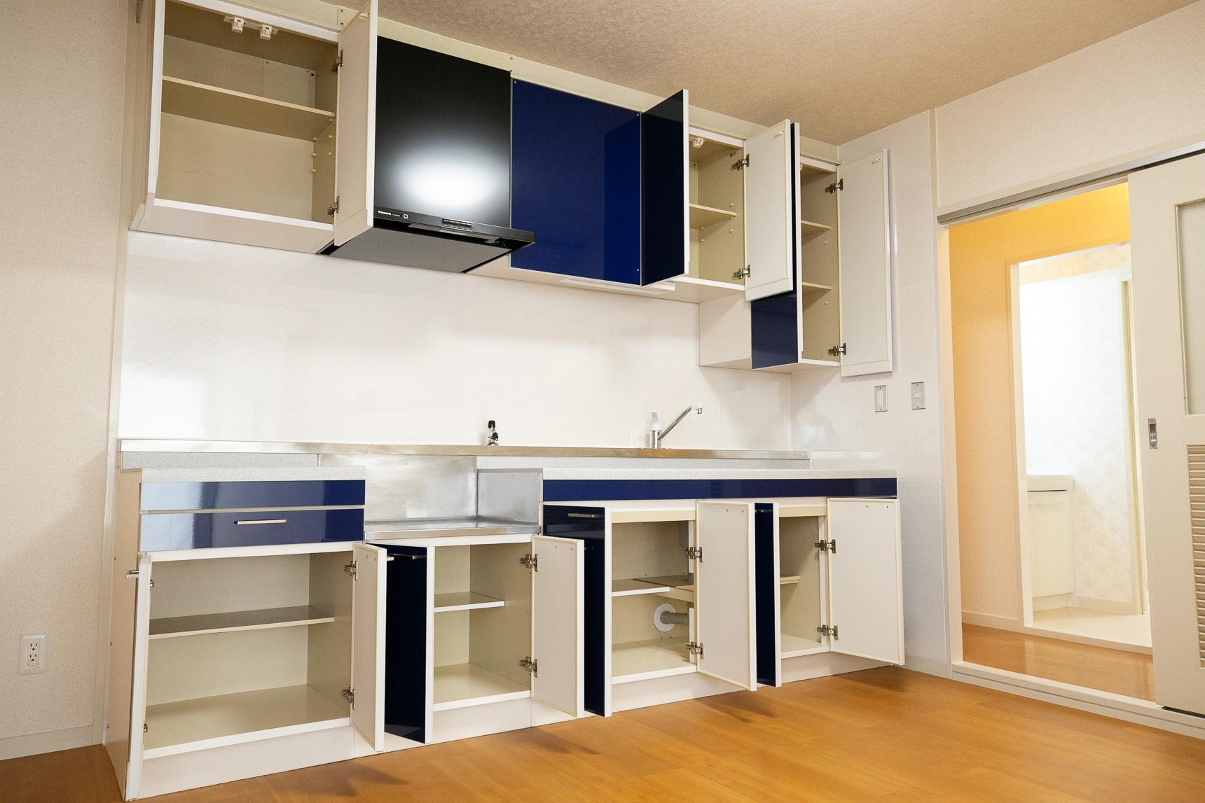 そしてこのお部屋は、キッチンの収納がすごかった。ババン!