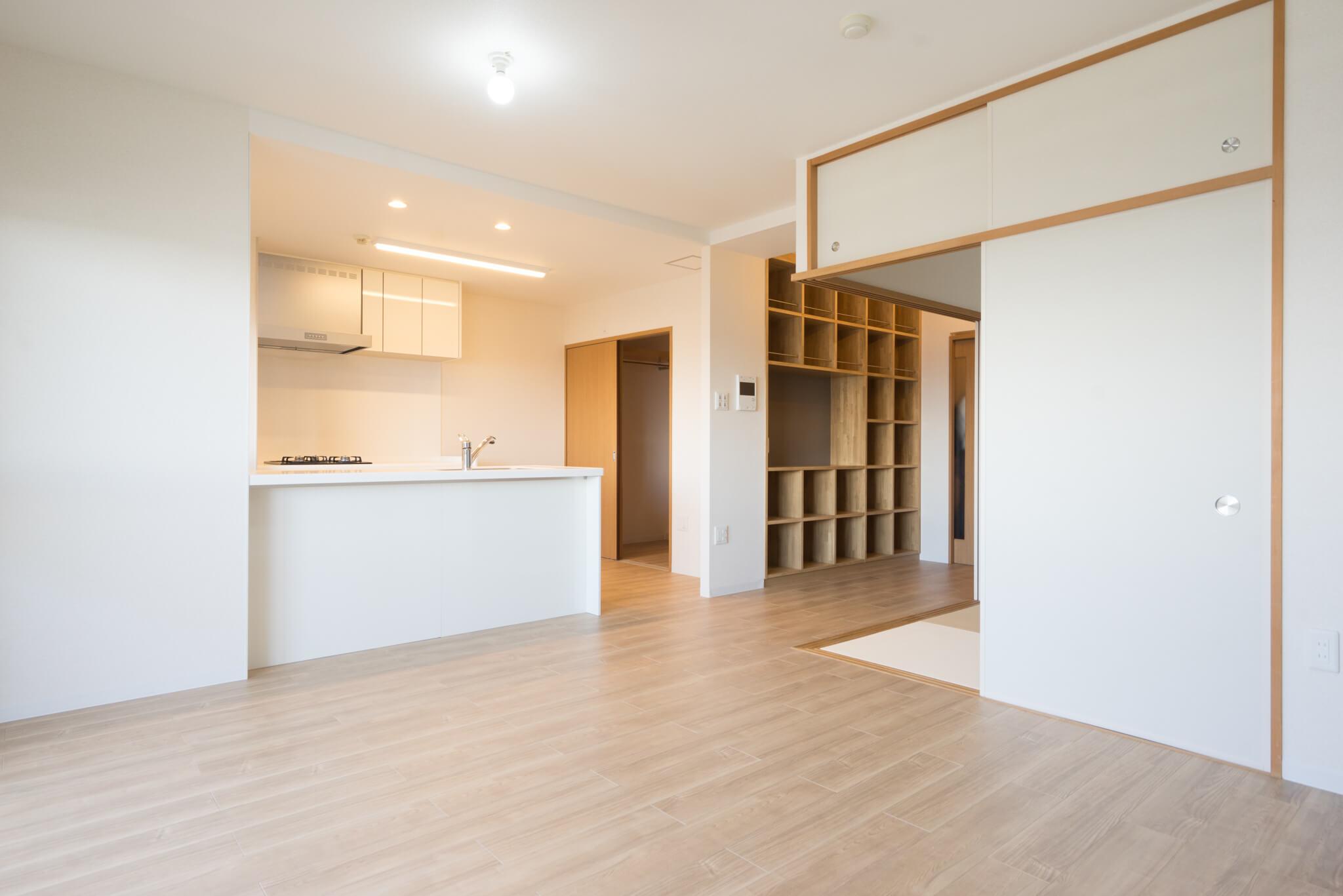 こちらが「ママに優しい住宅」をコンセプトにリノベーションされたお部屋。