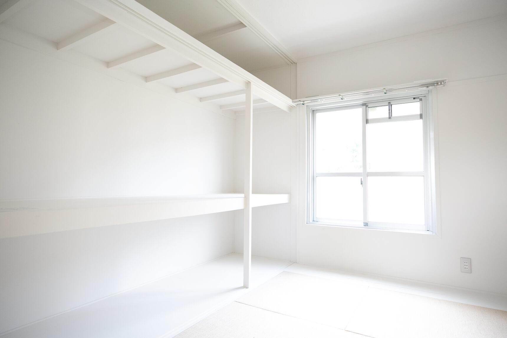 押入れを生かした大きな収納は、無印良品のお好きな収納家具を置いて使ってください