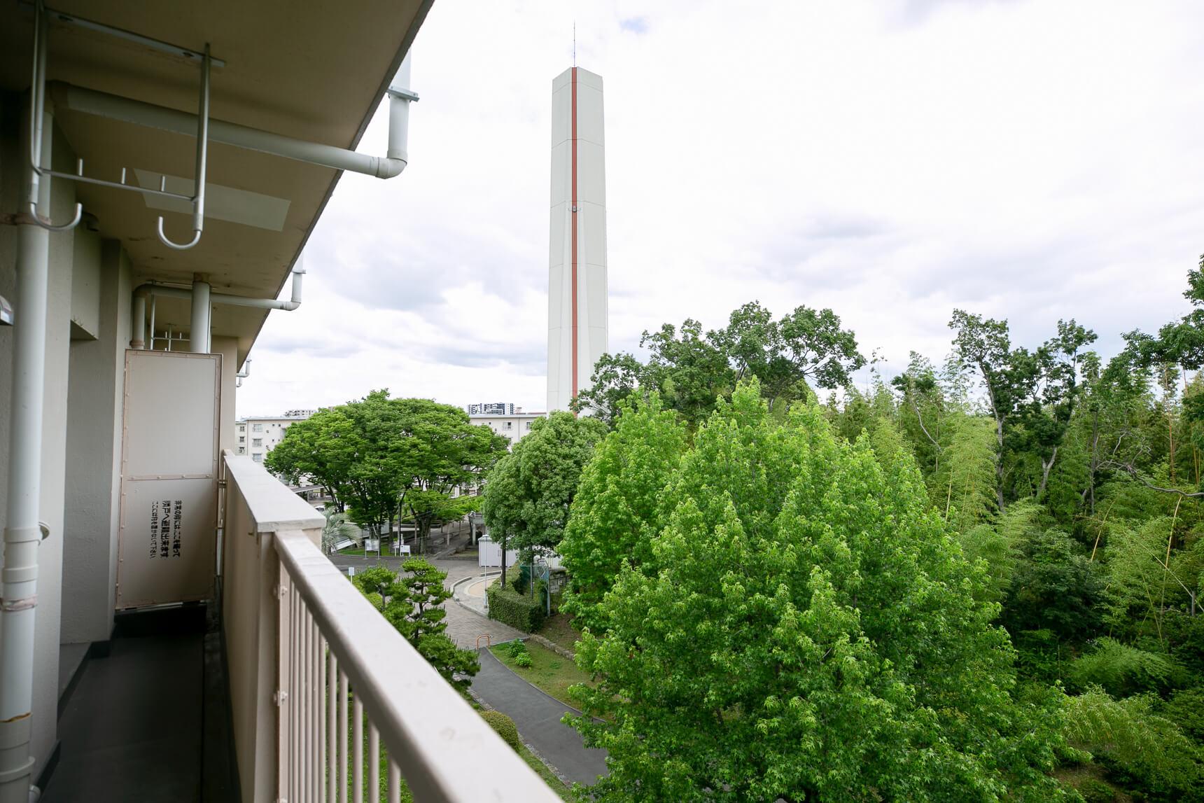 眺望は3部屋の中でもピカイチ!たくさんの緑が目に嬉しいです。