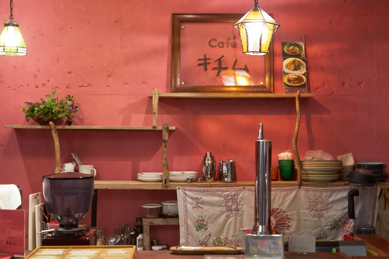 やわらかい雰囲気が人気のカフェ、キチム