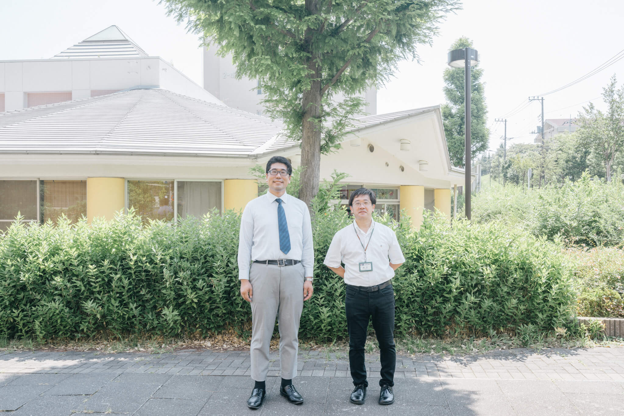 ご案内いただいたのは、UR都市機構の清水成俊さん(右)と、小澤唯幸さん(左)