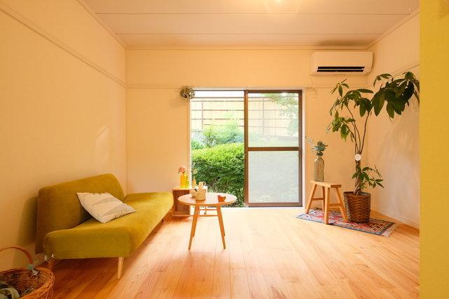 グッドルーム自慢の、無垢床リノベーションのお部屋です