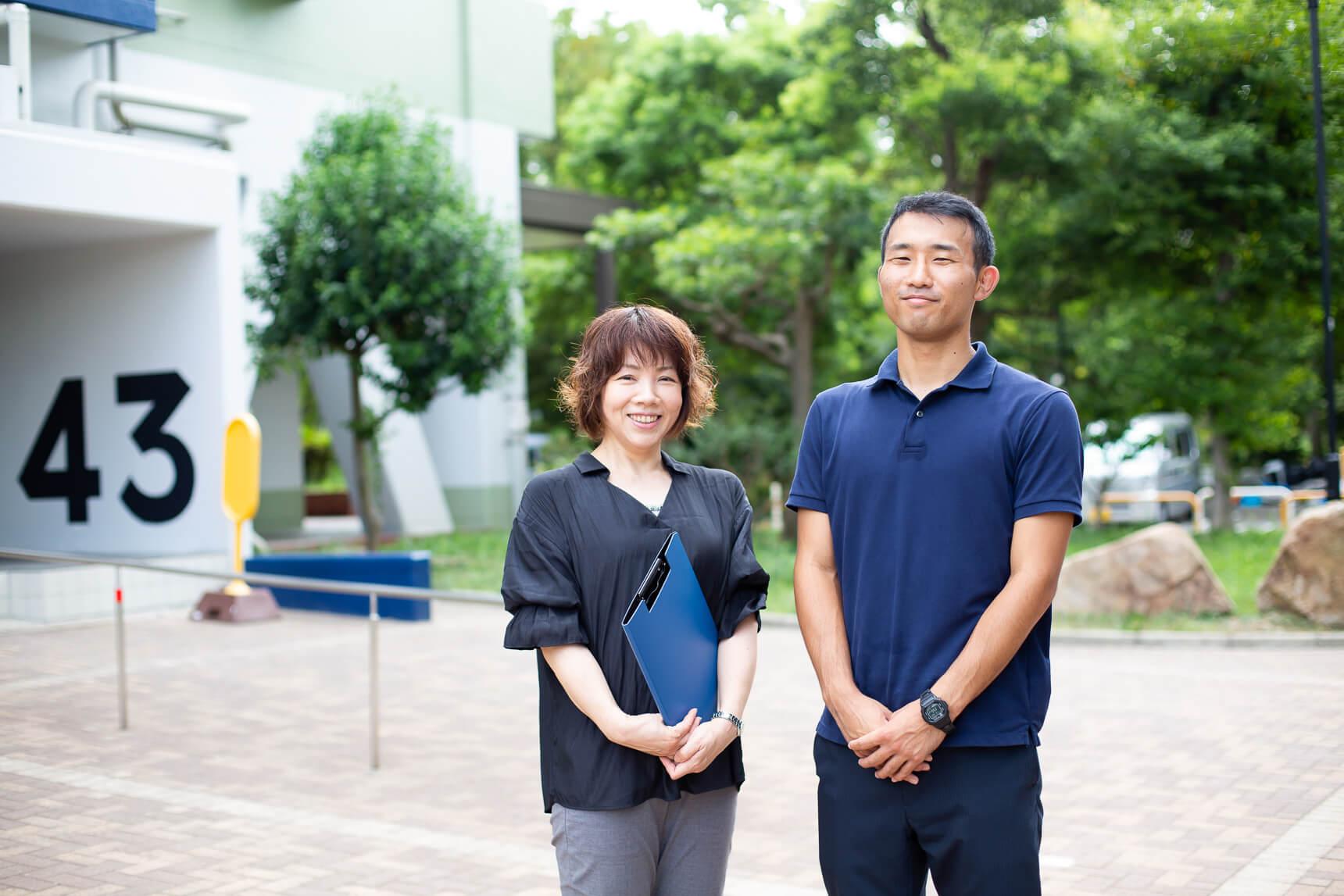 ご案内いただいたのは、UR都市機構の笹木さん(写真左)と木村さん(写真右)