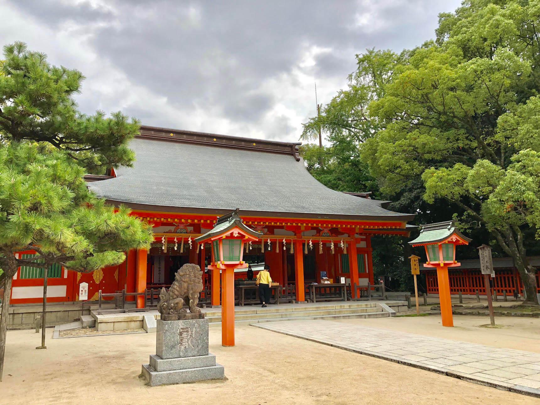 お散歩の帰りには住吉神社でパワーをもらいましょう