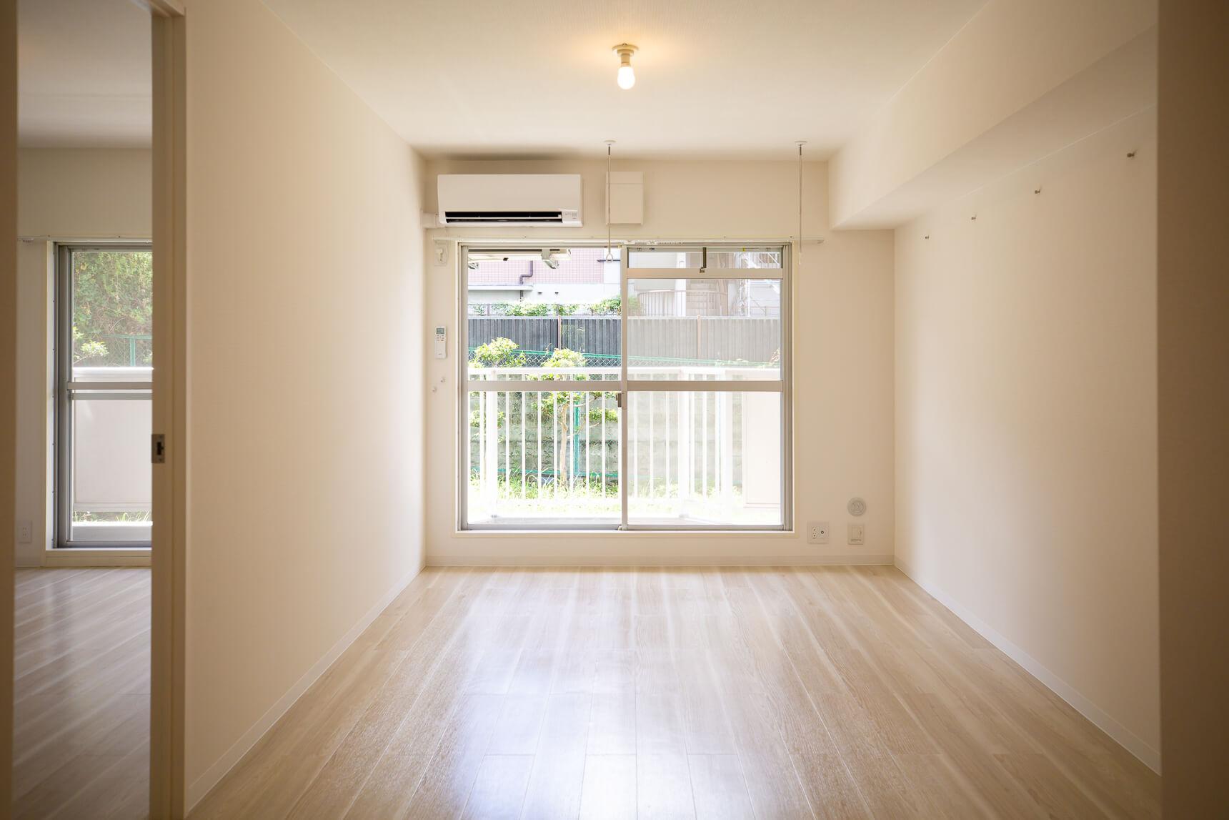 日当たりがよく明るいお部屋。