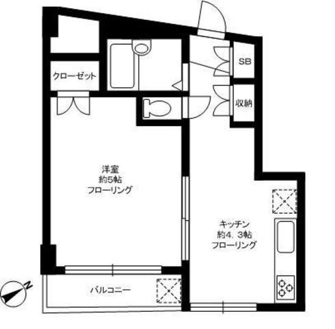 (桜新町/1K/25.08㎡/7.8万円)