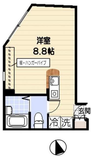 千歳船橋/ワンルーム/20.95㎡/7.5万円