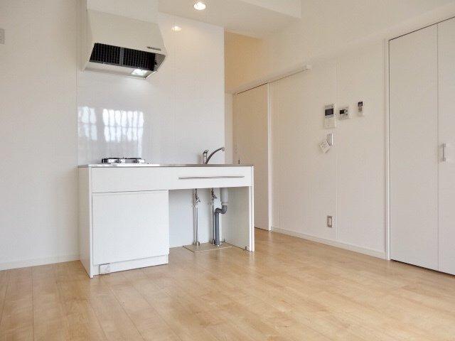 シンプルでおしゃれなキッチンに、無垢のフローリングが気持ち良いワンルーム。築浅で設備も整っています。