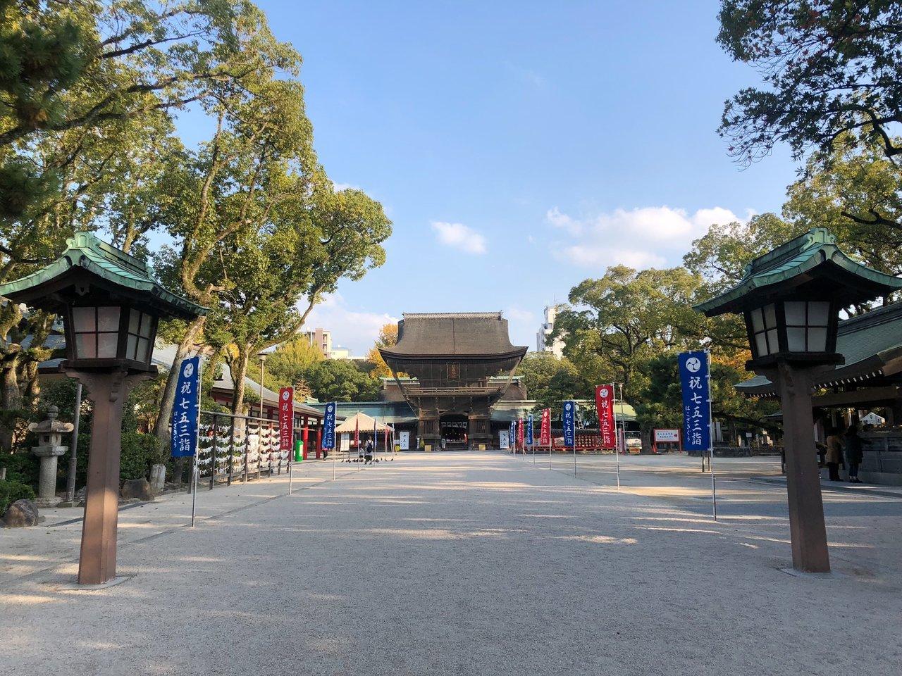 筥崎宮の境内には、パワースポットとして知られる場所もたくさんありますよ