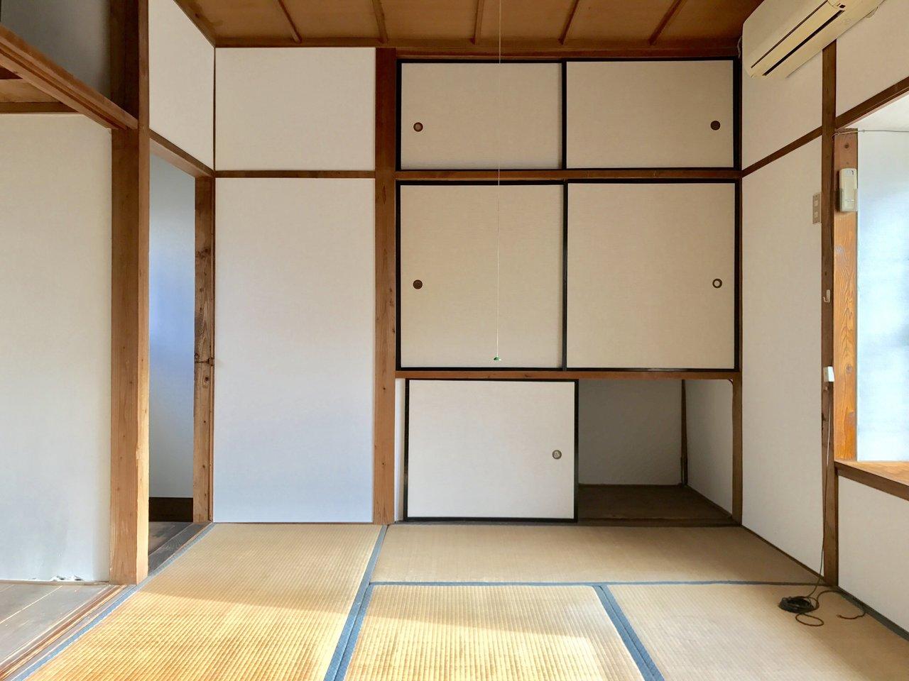 2階は和室になっています。こたつを出したり、ゴロゴロしたり。日当たりがよく気持ち良さそうですね。