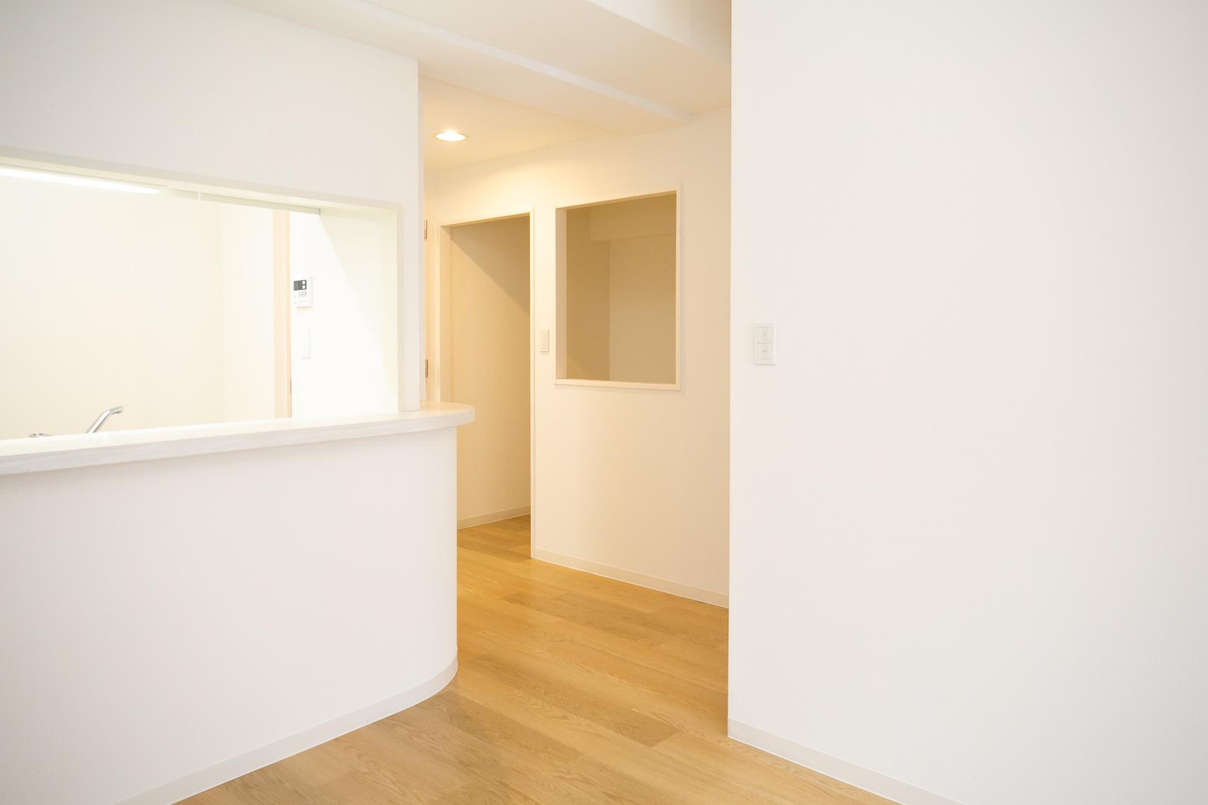 さらに、キッチンの真横にあたる部分に、なにかと便利そうな「ユーティリティー」スペースがあるんです。