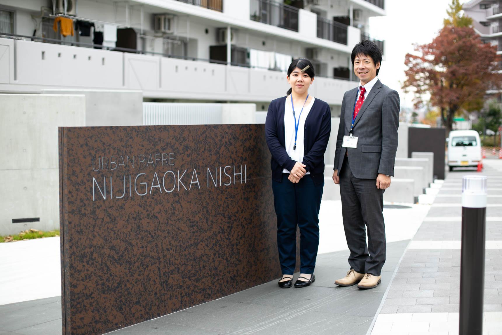 ご案内していただいたのは、UR都市機構の伊藤さん(写真右)と岩元さん(写真左)です。